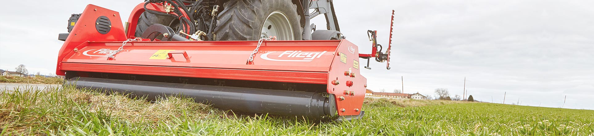 Flail mower with three-point hitch