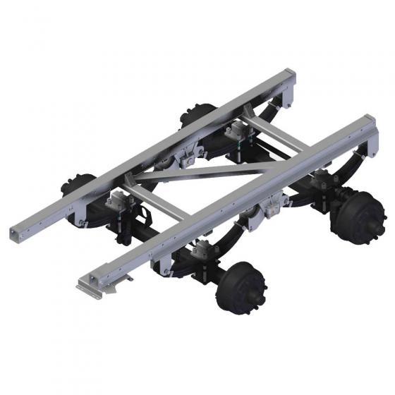 Bremsachsaggregat mit aufgeschw. Rahmen