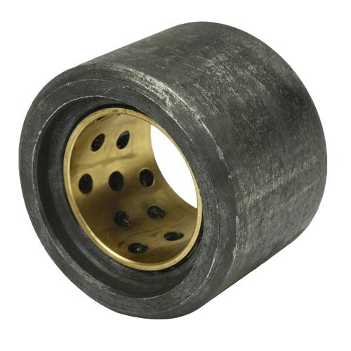 Rolle mit Buchse (ohne Bolzen) / A-Ø= 45,0 mm/I-Ø= 26,0 mm/H= 33,5 mm