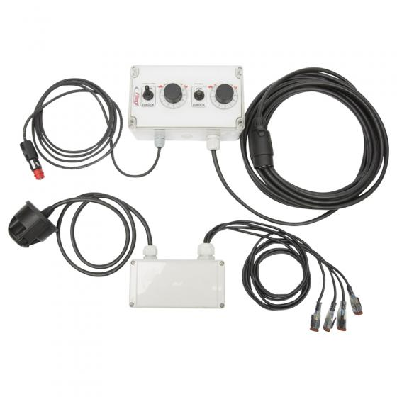 Control box, electric, for PWM valve