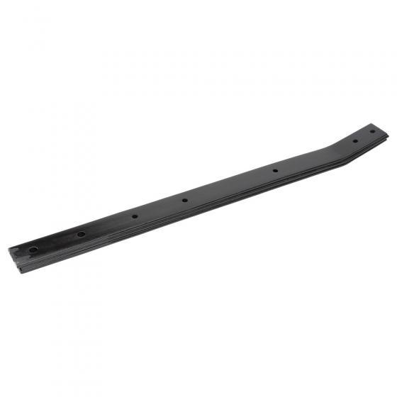 Cranked spring steel for drag shoe spreader