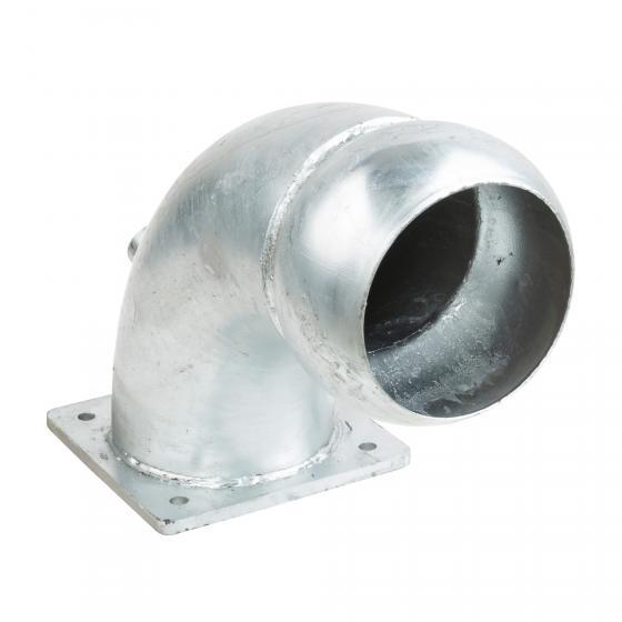 Rohrbogen 90° mit V-Teil verzinkt für Andockvorrichtung