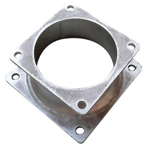 Connection flange for turbo filler