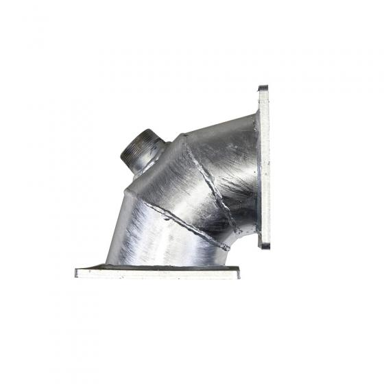 Elbow for connection manure distributor with outlet