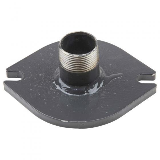 Outlet flange for plexiglass tube - fill level indicator