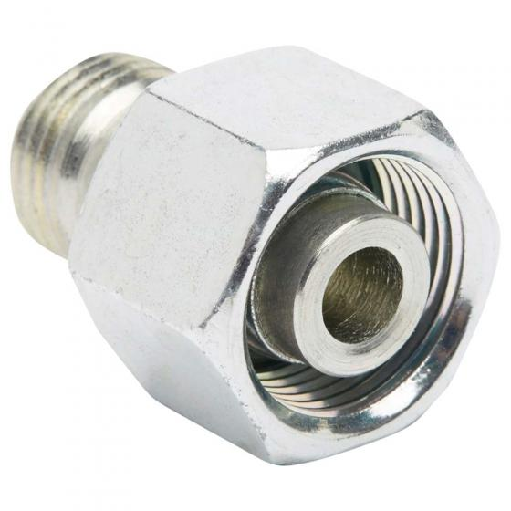 Straight reducing screw connection