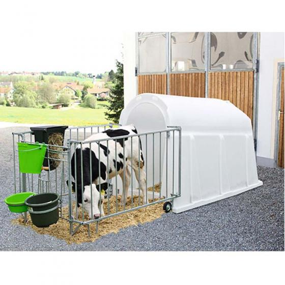 CalfHouse PE UV+ with Lightweight Fence