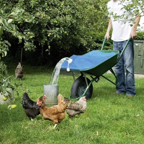 Wasserbehälter für Schubkarre
