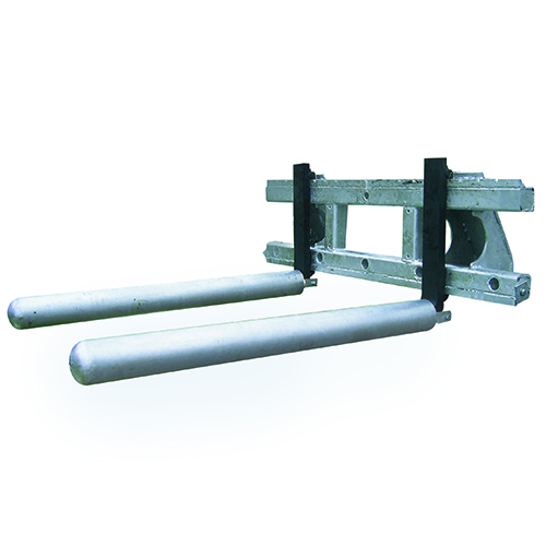 Socket pipes for round bale transport