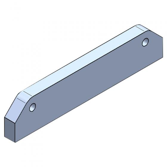 Spacer plate for hose guide for pruning saw