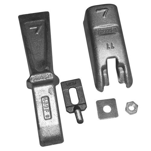 Schotterzinken 3tlg. geschraubt Typ 411